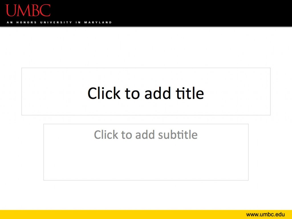 powerpoint template umbc style guide umbc