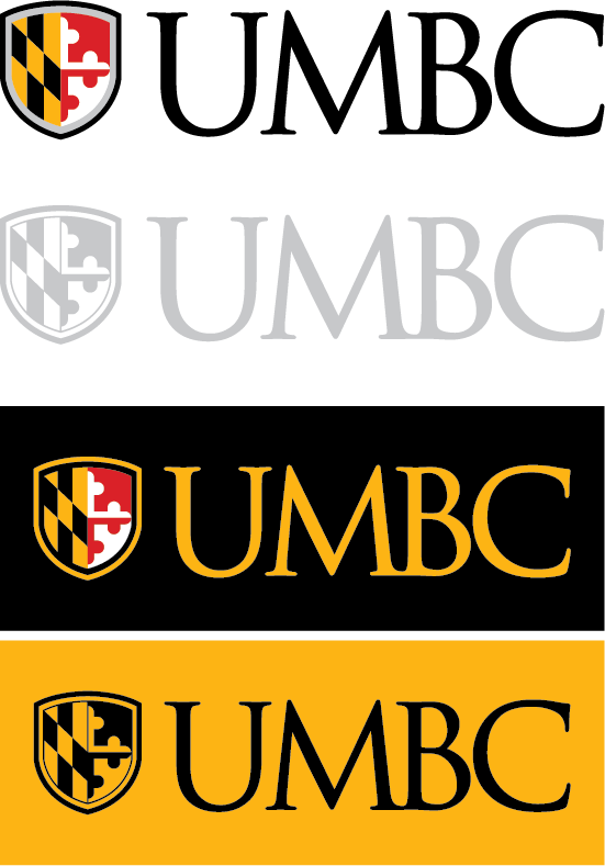 UMBC logo acceptable color use