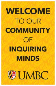 welcome to our community of inquiring minds poster