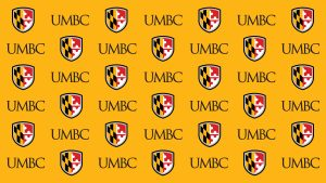 digital background UMBC step and repeat gold