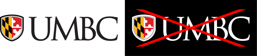 Example of proper use for the UMBC primary logo