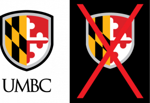 Example of proper use for the UMBC vertical logo