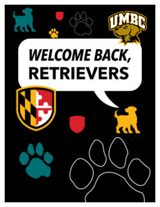 welcome back retrievers lettersize poster