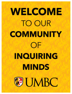 welcome to our community of inquiring minds lettersize poster